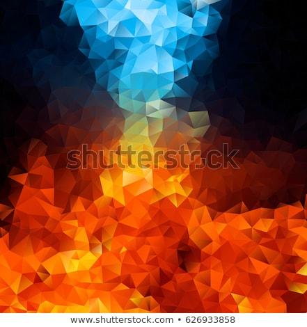 Hot diament palenie płomienie dymu czarny Zdjęcia stock © prill