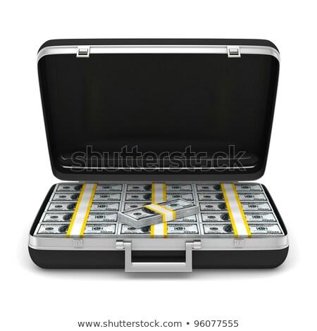 case with money on white background isolated 3d image stock photo © iserg