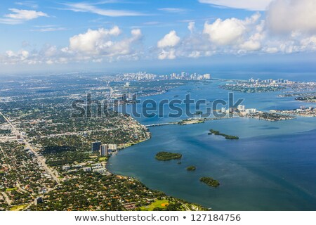 Légi tengerpart Miami tengerpart fény óceán Stock fotó © meinzahn