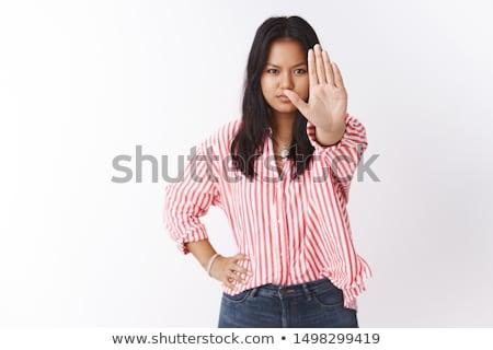 ビジネスマン · 一時停止の標識 · 選択フォーカス · 手 · にログイン - ストックフォト © hsfelix