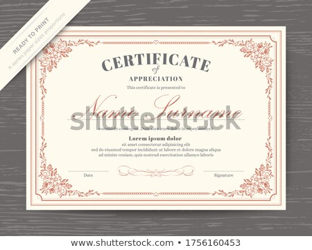 floral certificate Stock photo © get4net
