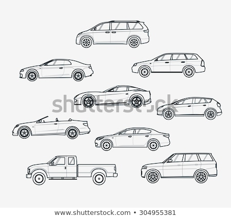Cars type liner icons Stock photo © Yuriy