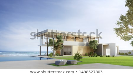 Louer maison mer vue illustration plage Photo stock © adrenalina