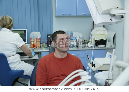 Dentist's teeth checkup, series of related photos Stock photo © zurijeta