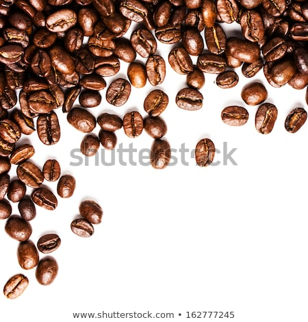 Stock photo: fragrant fried coffee beans