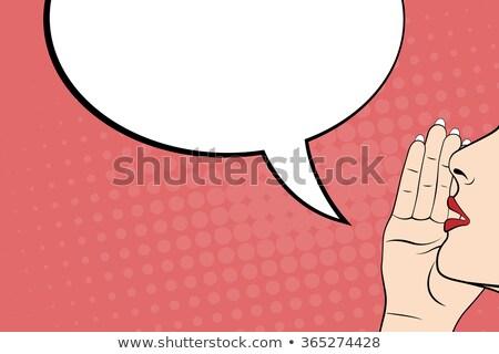 Lábios bolha discurso negócio projeto soar Foto stock © jabkitticha