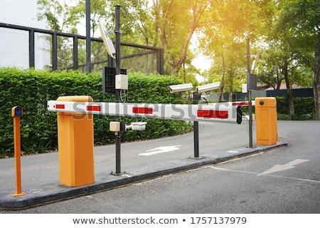 garage · veiligheid · poort · bruin · staal - stockfoto © meinzahn