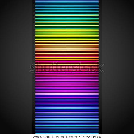 Orange jaune dynamique couleurs grille modèle Photo stock © latent