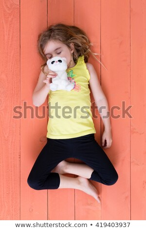 Cute joven dormir felpa juguete gato Foto stock © ozgur
