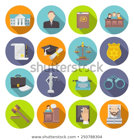 flat design law and justice icons stock photo © genestro