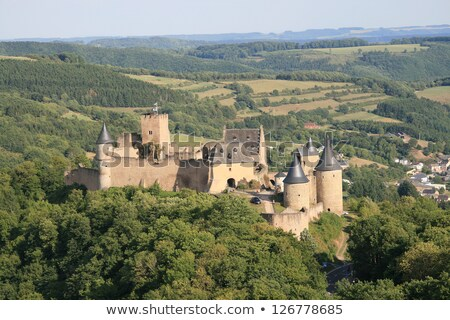 Château Luxembourg bâtiment fond montagne pierre Photo stock © Perszing1982