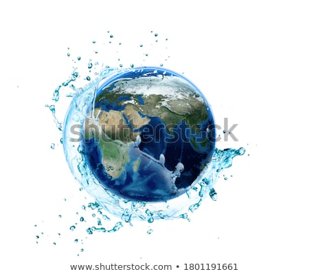 Stock photo: The earth in a drop