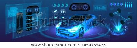 Projektu zaawansowany samochodu koła drogowego Zdjęcia stock © ssuaphoto