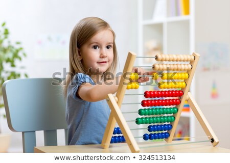 child with abacus Stock photo © adrenalina