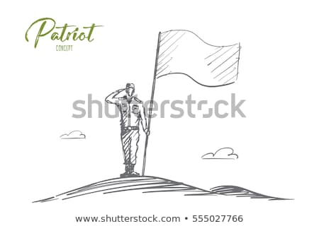 Sketches of soldiers Stock photo © bluering