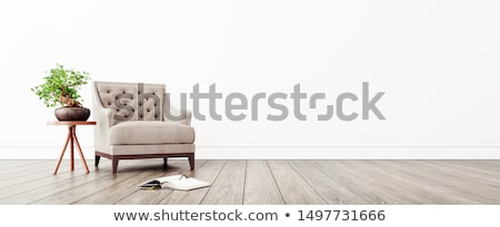 leather armchair on a white background 3d image stock photo © iserg