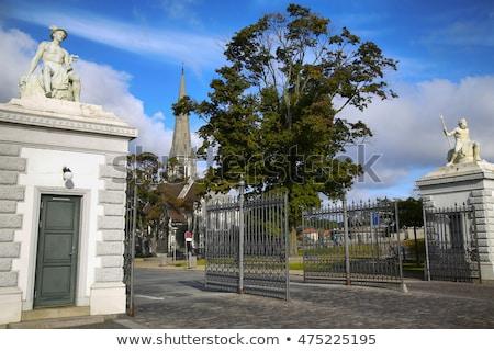 Puerta Copenhague Dinamarca árbol ciudad iglesia Foto stock © vladacanon