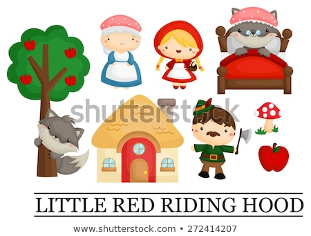 Little Red Riding Hood in the Forest Stock photo © NicoletaIonescu