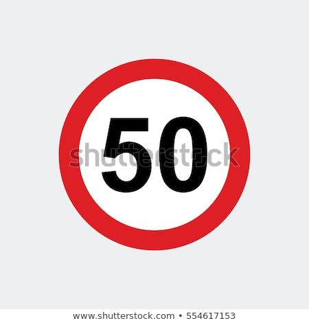 60 mph rijden snelheidslimiet teken snelweg Stockfoto © stevanovicigor