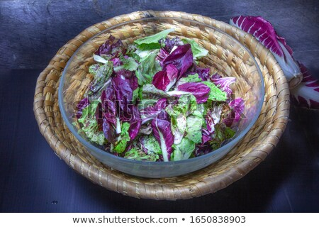 wicker basket with raw chicory Stock photo © M-studio