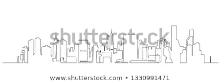 Composite image of cityscape doodle Stock photo © wavebreak_media