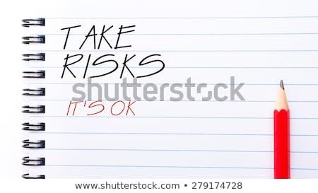 Risiko Text Merkzettel blau Stift Stock foto © fuzzbones0
