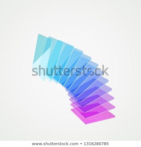 Négyszögletes tér 3D formák többszörös szín Stock fotó © Melvin07