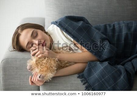 woman sleeping like a baby Stock photo © Giulio_Fornasar