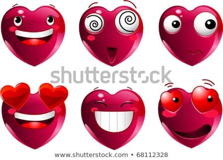 Ojo corazón clipart imagen feliz sol Foto stock © vectorworks51