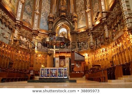 Black Madonna in the Benedictine abbey Santa Maria de Montserrat Stock photo © digoarpi