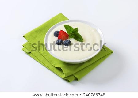 Smooth semolina porridge with fresh fruit Stock photo © Digifoodstock