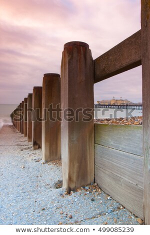 Breakwater and sunrise of Hastings Pier, Great Britain.  Stock photo © CaptureLight
