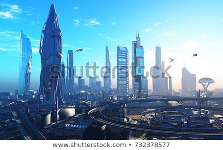 futuro · cidade · abstrato · cityscape · panorama - foto stock © day908