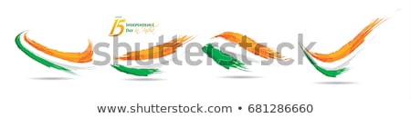 üç renkli Hint bayrak vektör dizayn örnek Stok fotoğraf © SArts