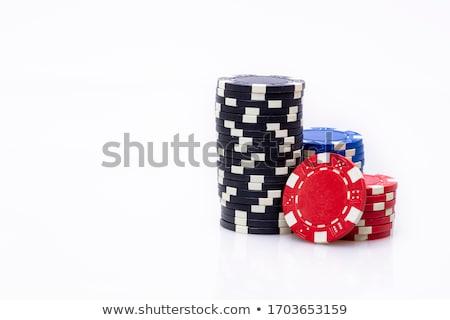 Kaszinó hazárdjáték sültkrumpli boglya kaszinó zsetonok vektor Stock fotó © day908