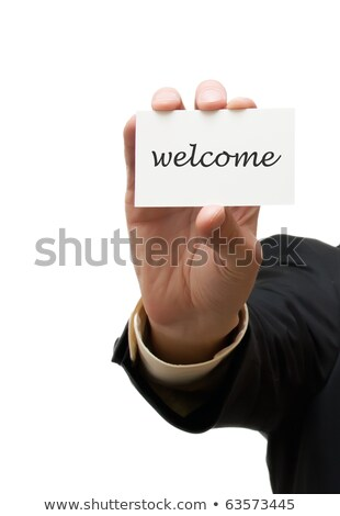 Welcome sign background with card suits Stock photo © day908