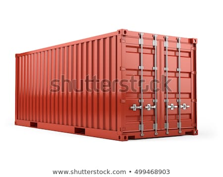 Illustration verschlossen Container weiß 3D-Darstellung Business Stock foto © tussik