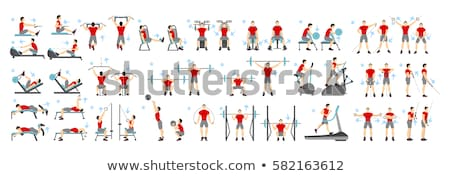 Stock photo: Fitness woman exercises using training equipment in gym