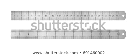 Cetvel enstrüman ölçüm dizayn araç ölçek Stok fotoğraf © perysty