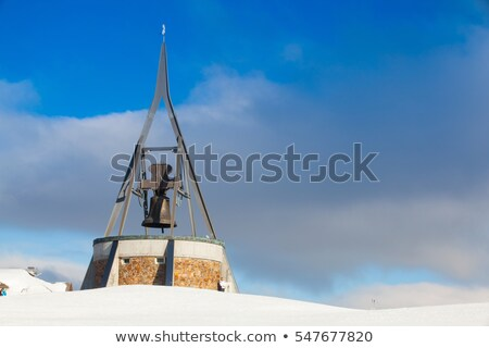 Peace Bell Concordia on Kronplatz peak. Stock photo © CaptureLight