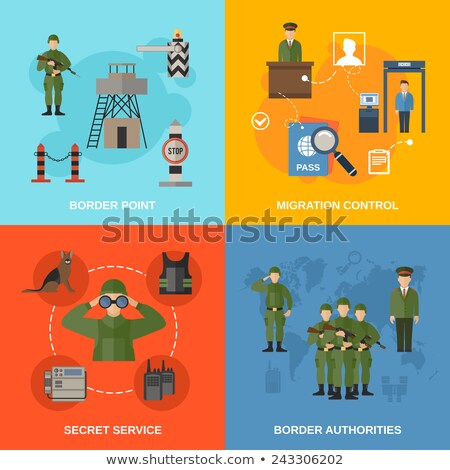 military infographic flat vector concept stock photo © robuart