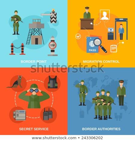 Militaire vector verschillend krijgsmacht type Stockfoto © robuart