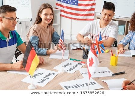 Linguagem ilustração caderno classe diploma internacional Foto stock © adrenalina