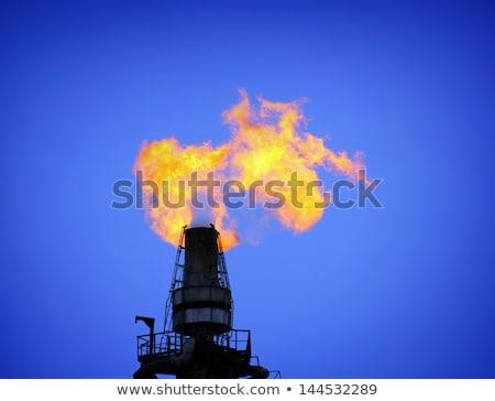 факел башни очистительный завод воздуха загрязнения небе Сток-фото © Mikko