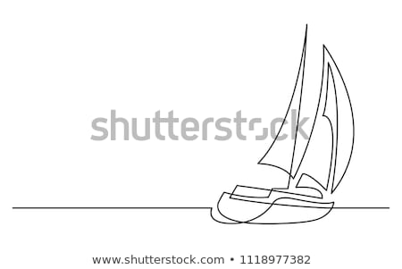Ships and boats line drawings Stock photo © biv