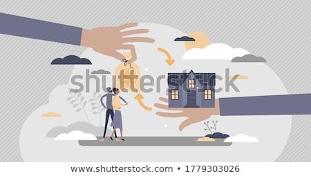 Zdjęcia stock: Monet · domu · klucze · nieruchomości · finansów