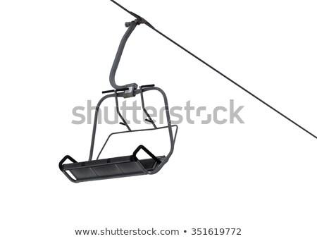 ski lift on a white background Stock photo © njaj