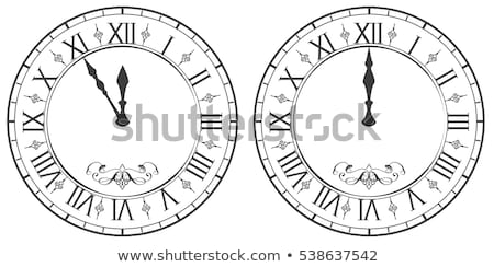 Clock with Roman numerals. New Year midnight 12 Stock photo © orensila
