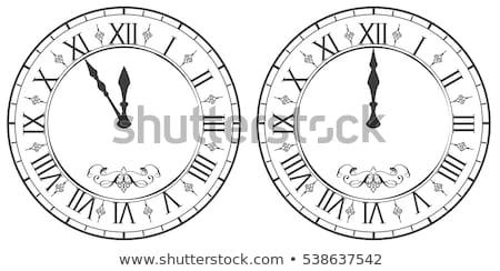 clock with roman numerals new year midnight 12 stock photo © orensila