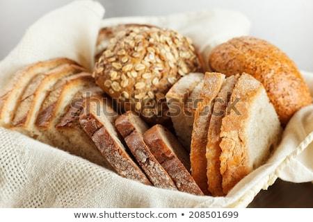 pan · trigo · cesta · edad · lienzo - foto stock © ilolab